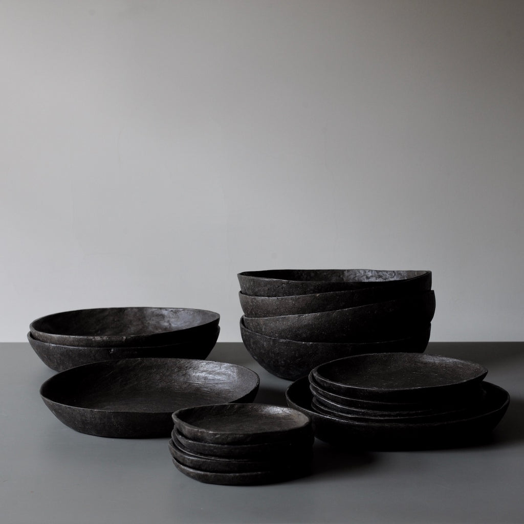 Grey pebble bowls and platters