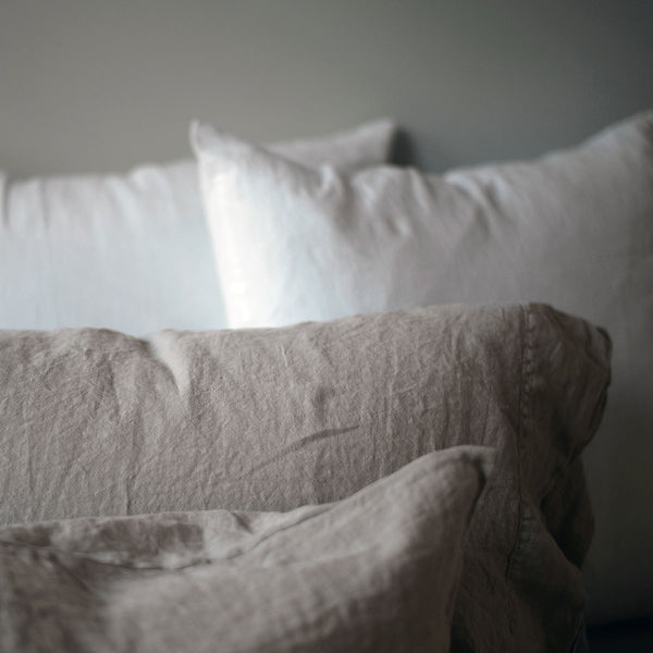 natural linen pillow set