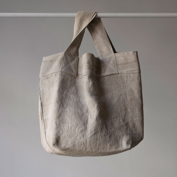natural linen tote