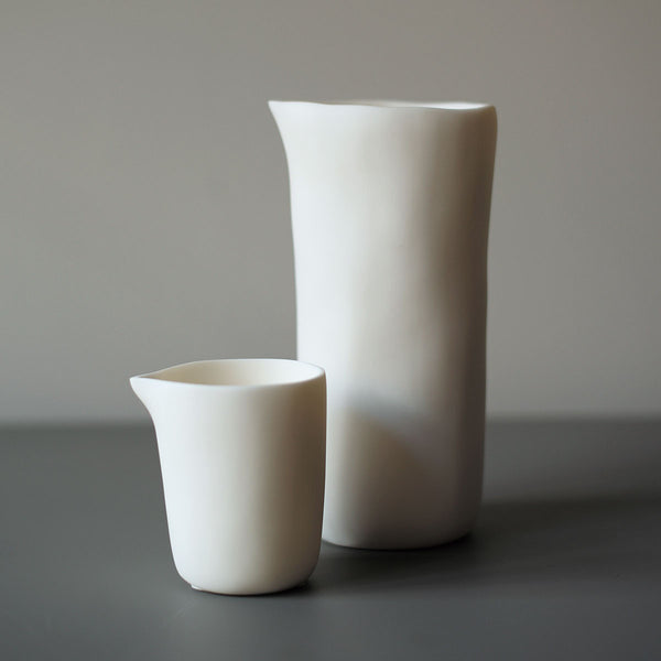 white resin carafe + creamer