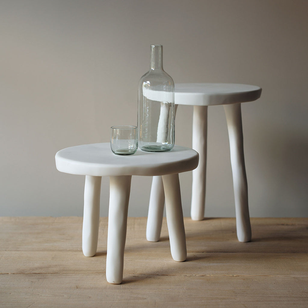 tina frey designs white resin stools side tables