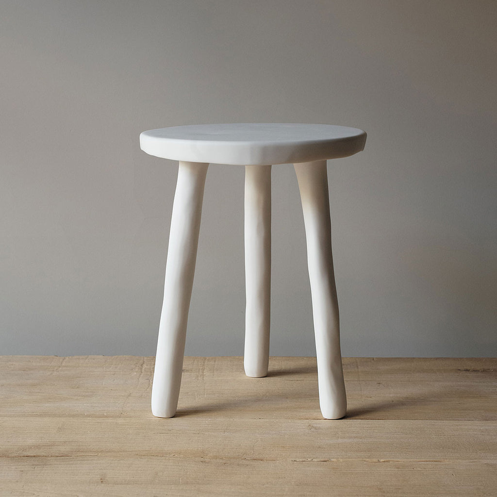 Tina Frey Designs White Resin Stools Side Tables Homestories