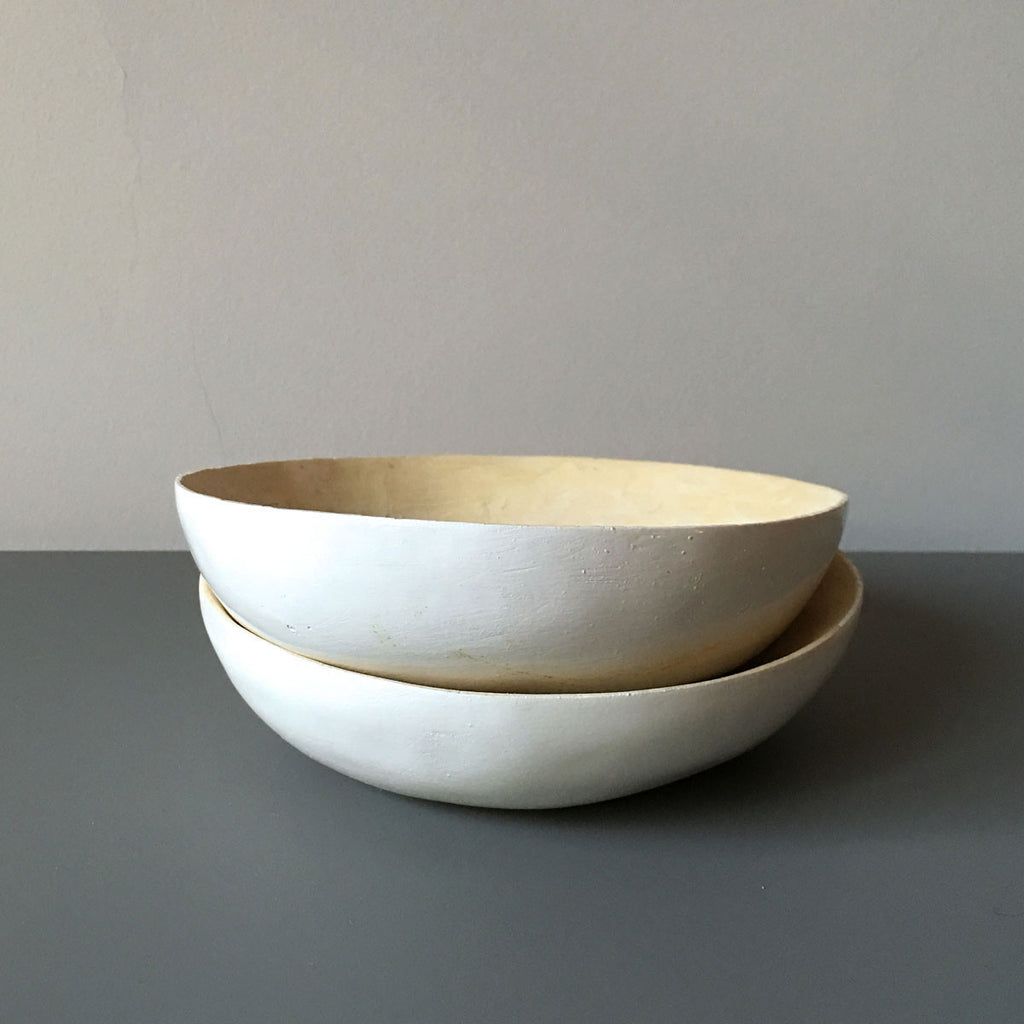 white lemonwood bowls