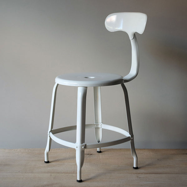 white industrial chair