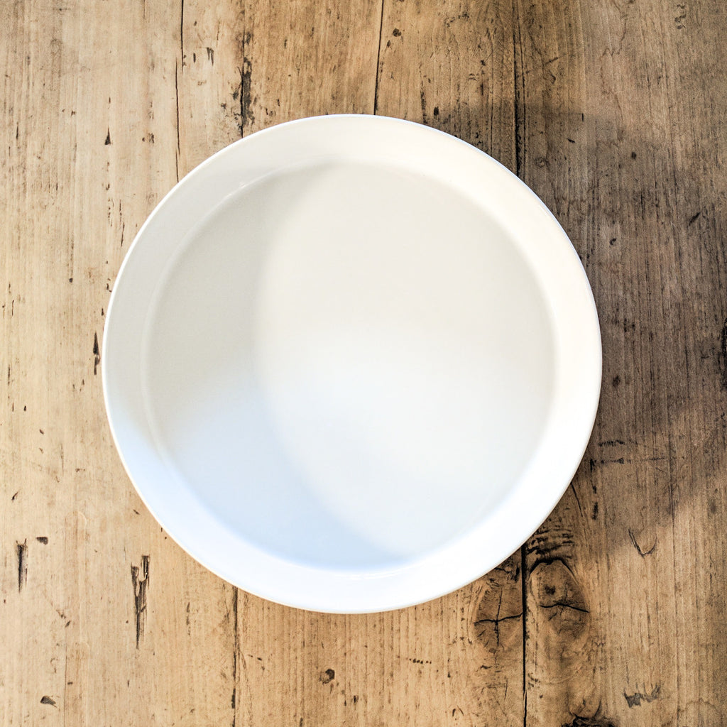 white round porcelain serving bowl INSTORE