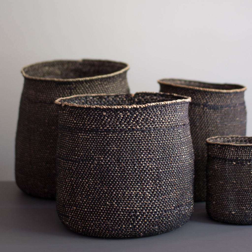 black iringa baskets