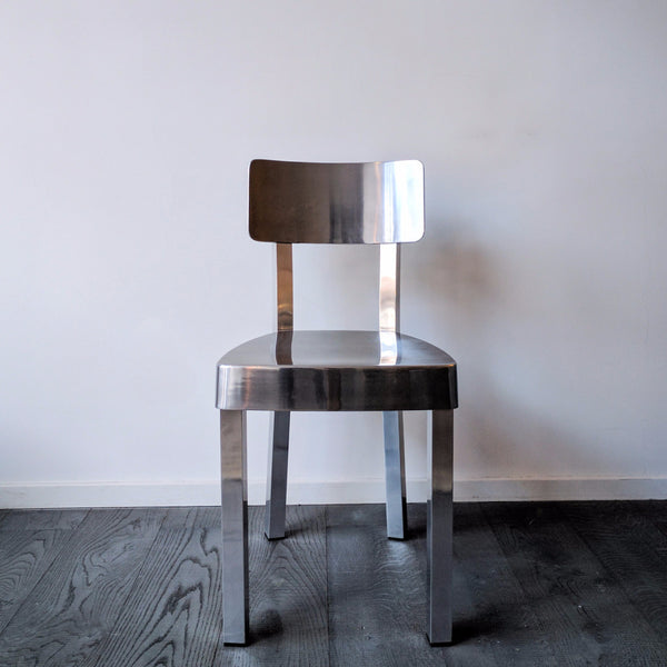 Natural aluminium chair