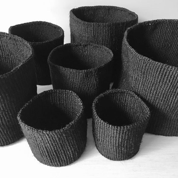 Black Sisal Basket