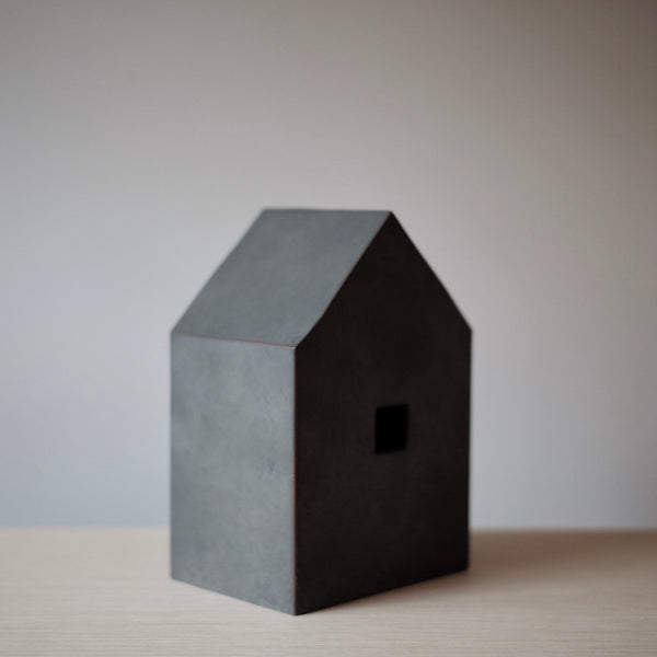 grey house sculpture