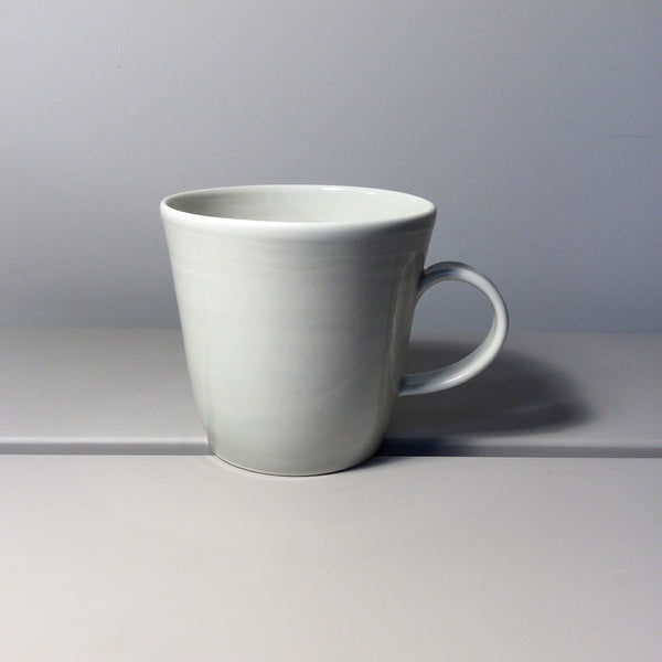 pale grey ceramic mug