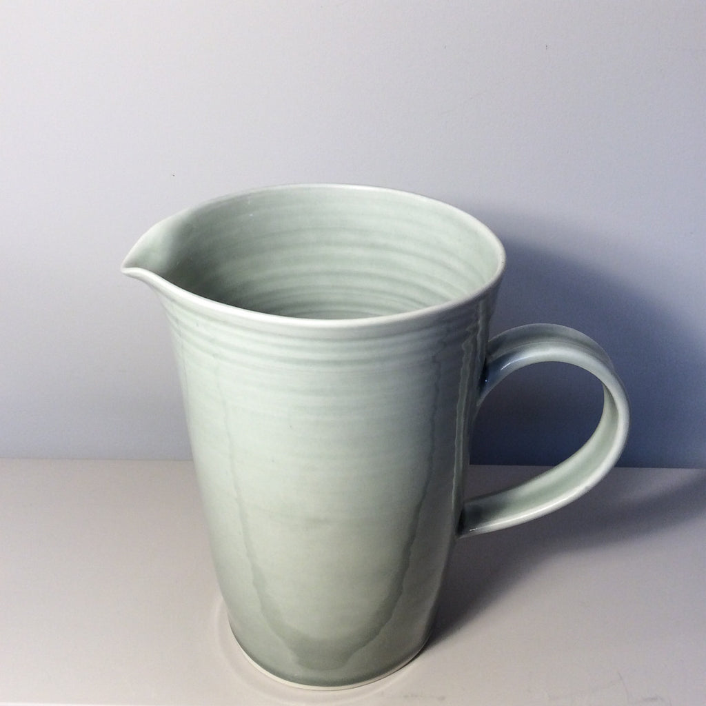 grey-green ceramic large pitcher