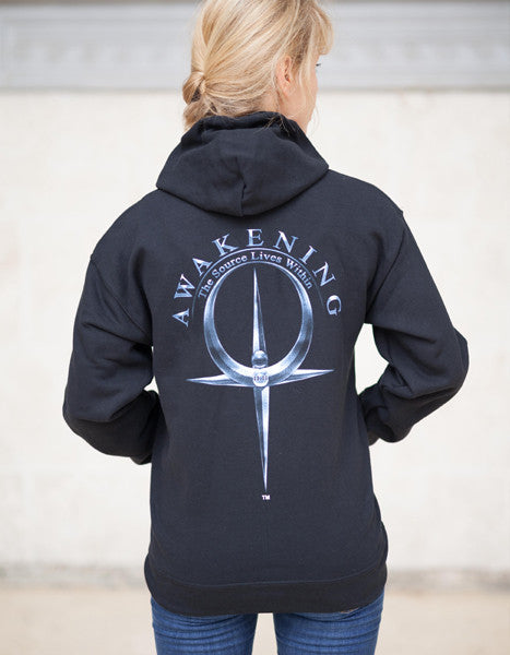 Women Black Zip Up Hoodie