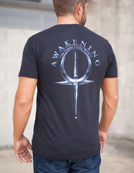 Men's Black V-Neck Tee
