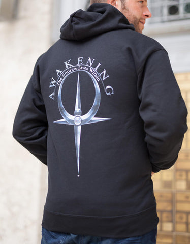 Men's  Balck Zip Up Hoodies