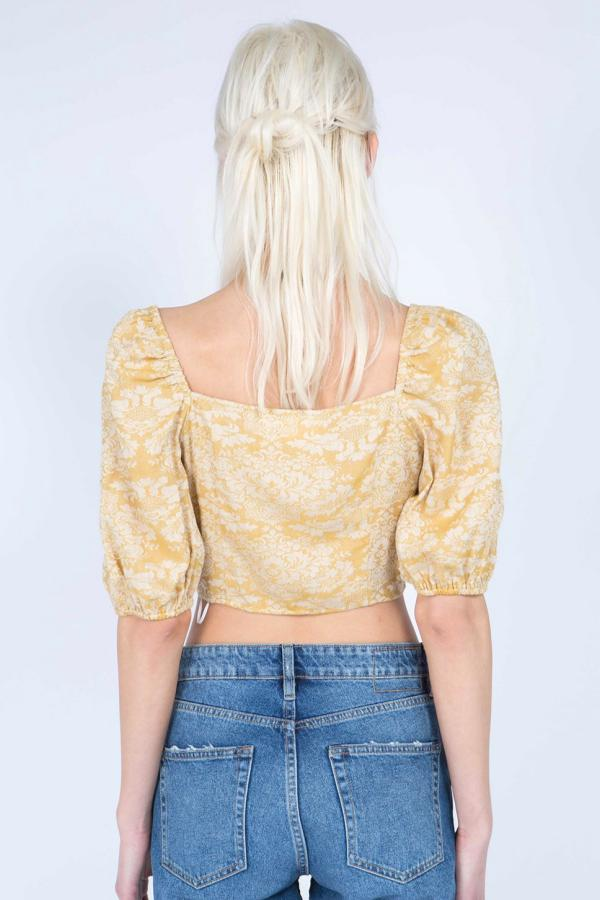 Crop Shell Top - Mustard