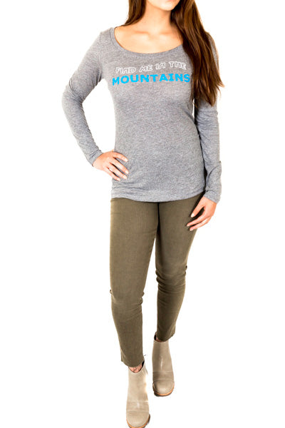 find me in the mountains long sleeve tshirt