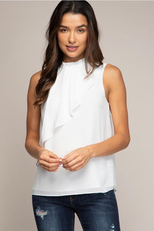 Kiara Ruffle Top - Off White