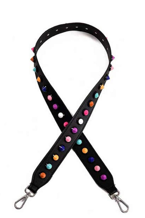 guitar and handbag strap with multicolor plastic dippin dots