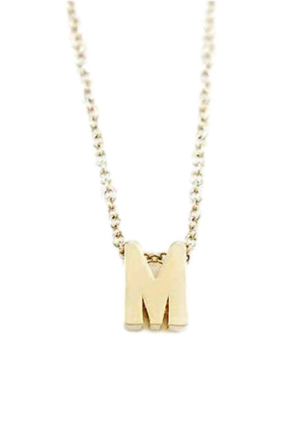 gold necklace with letter N pendant