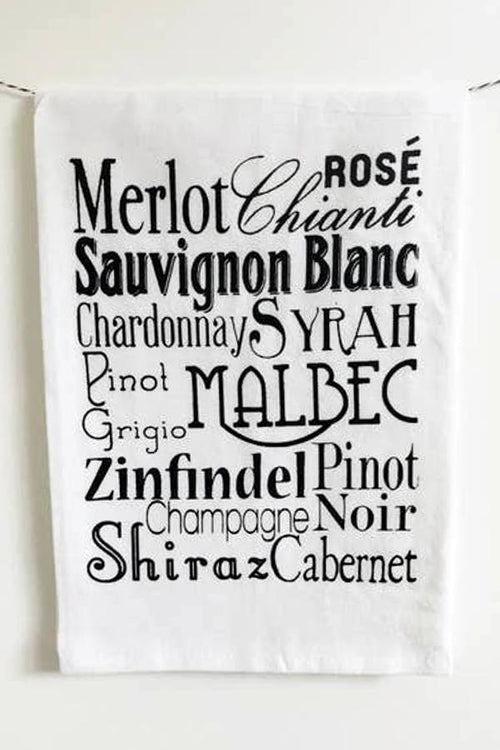 kitchen towel for wine lovers