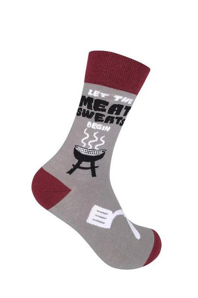 socks with let the meat sweats begin saying