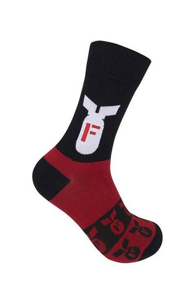 black and red unisex socks