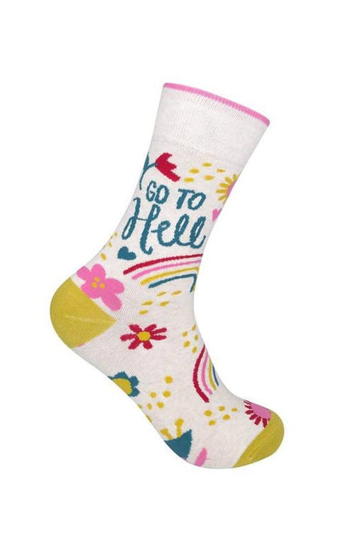 go to hell fun socks