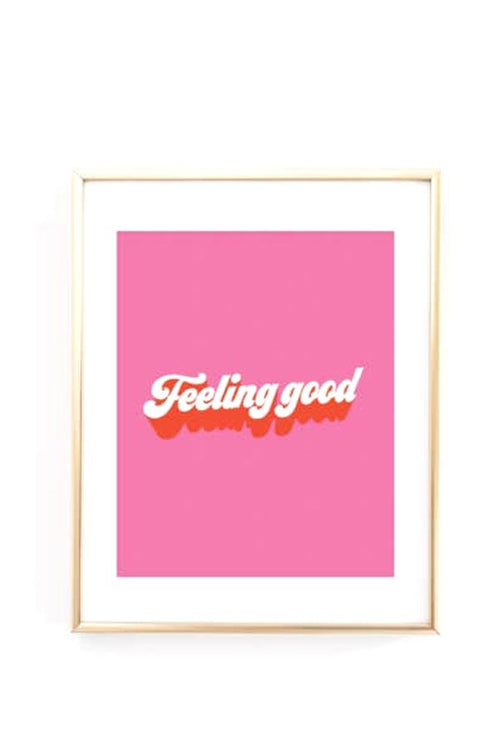 feeling good pink retro print