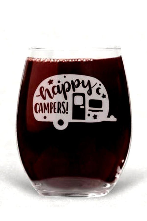 Happy Campers - Wine Glass