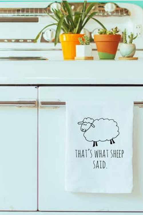That's What Sheep Said - Dish Towel