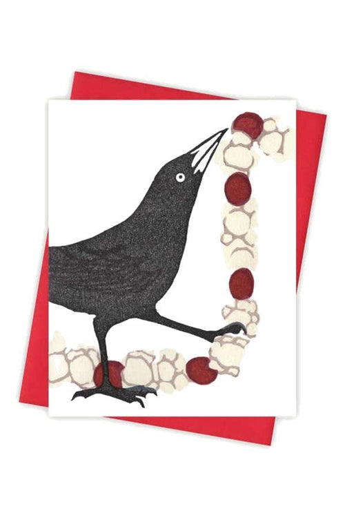 cute crow greeting card