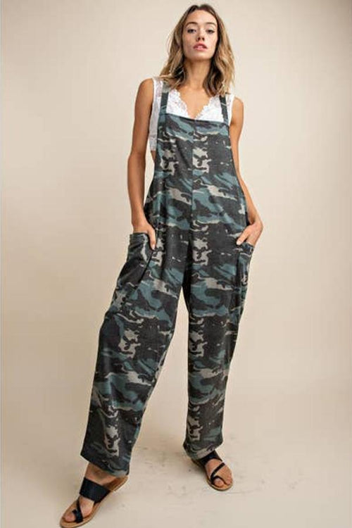 cool camouflage overall for women
