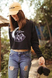 black printed sweatshirt for women and teens