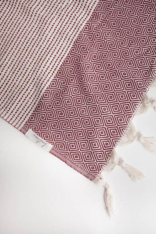 Hare Towel - Burgundy