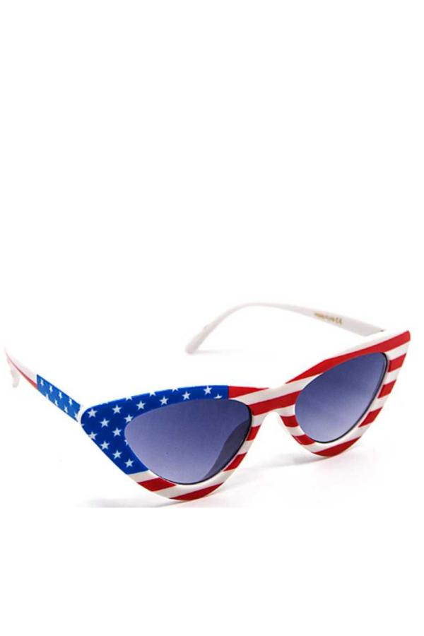 american flag cateye sunglasses