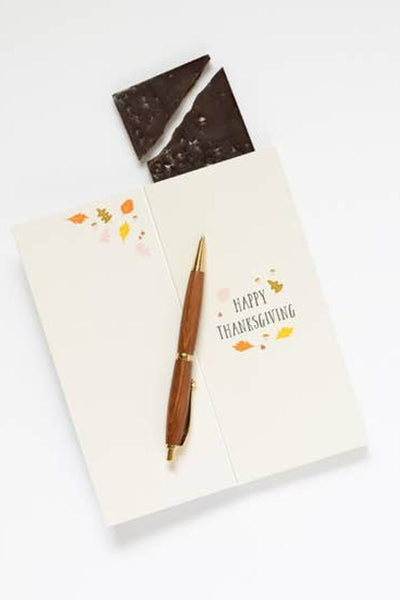 Sweet holiday card with chocolate the best gift