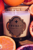 grapefruit and mint body lotion candle