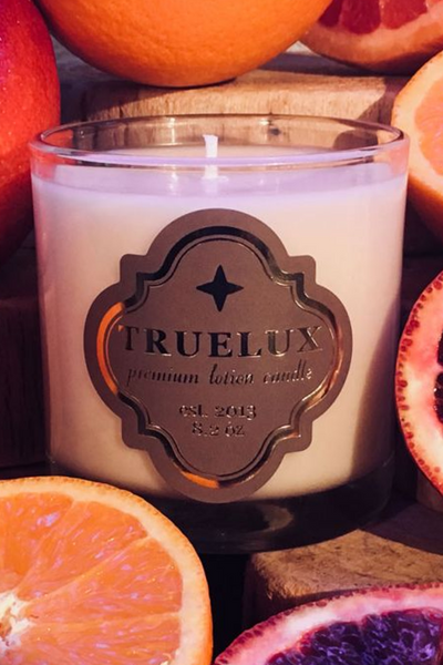 blood orange lotion candle