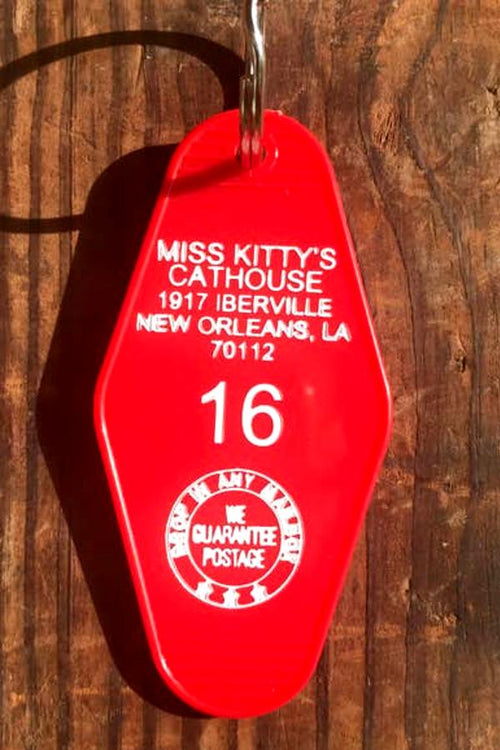 red motel key fob miss kitty's cathouse