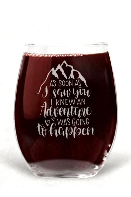 I'm Talking In Cursive - Wine Glass