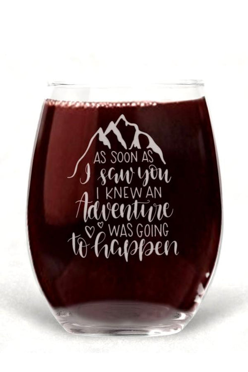 engraved fun wine glass