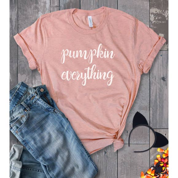 pumpkin everything fall graphic cute tee for women
