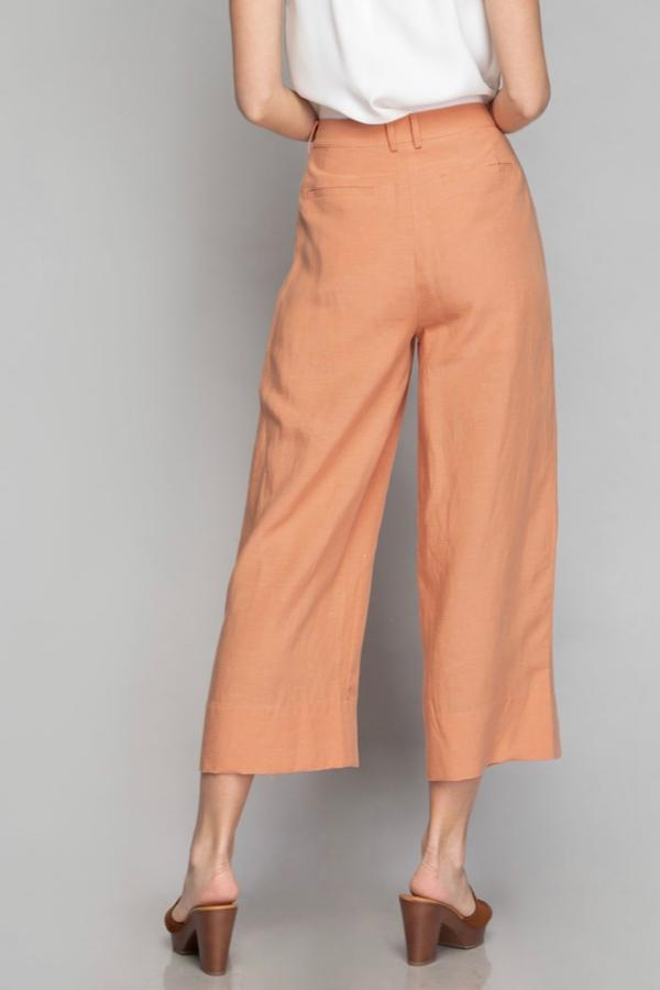 Babs Wide Leg Pants - Tawny Orange