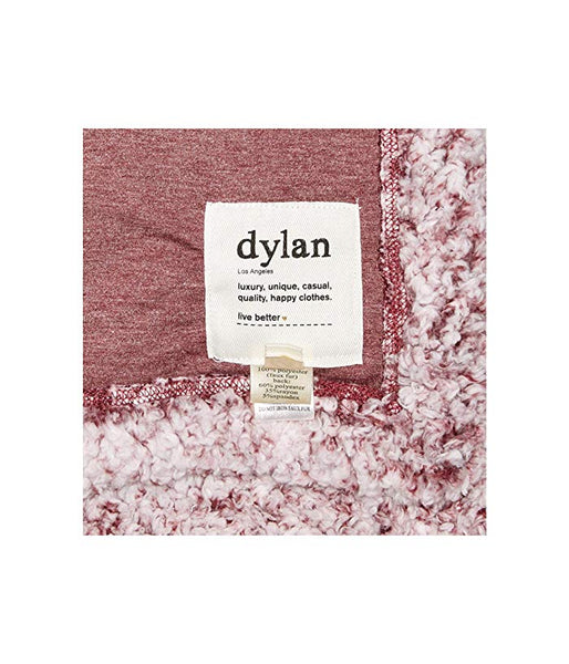 Soft Frosty Tipped Blanket - Wine