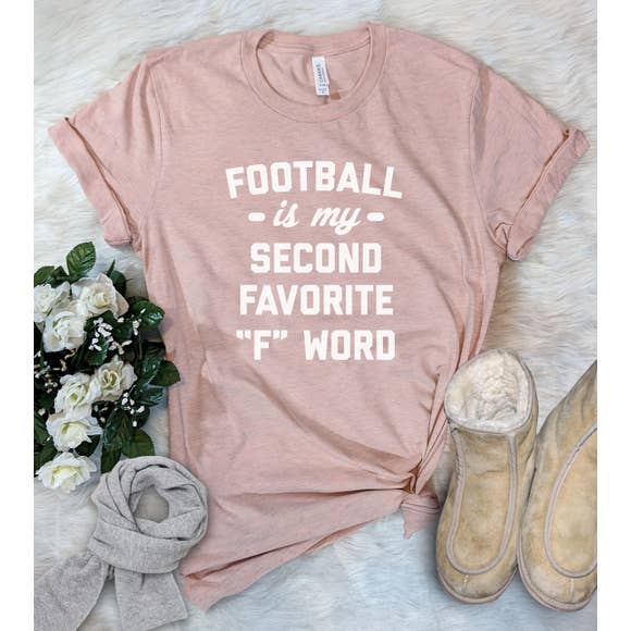 cute womens graphic tee about football