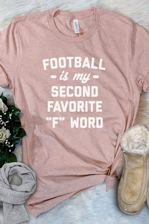 graphic womens tee with football is my second favorite f word