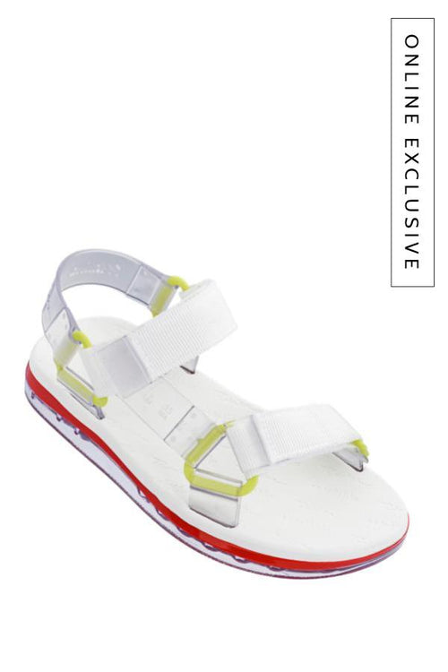 Melissa white and red sandals for women