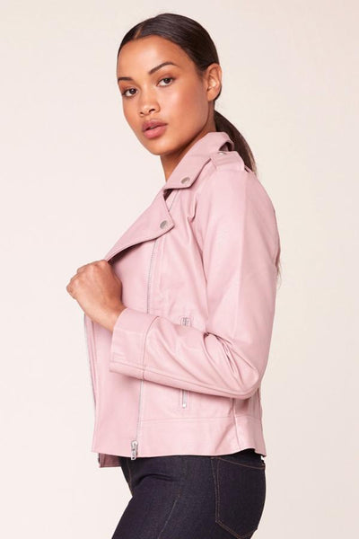 vegan leather womens jacket