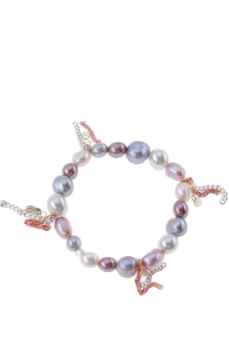 Stretch Bracelet with Natural Pearls