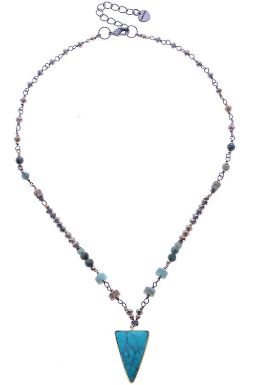 NECKLACE WITH TURQUOIS PENDANT